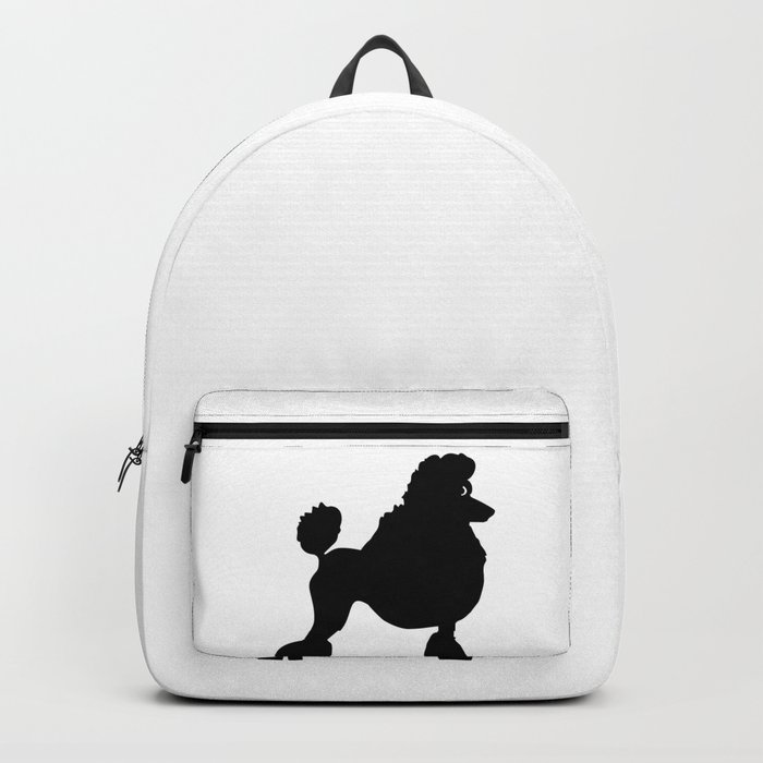 Poodle Dog Breed black Silhouette Backpack