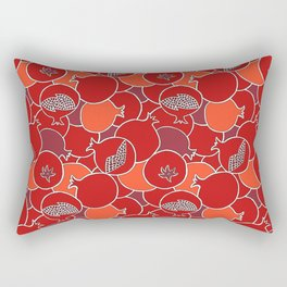 Pomegranate Harvest with Fruit and Seeds Rectangular Pillow