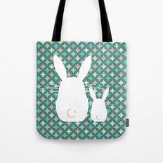 Bunny / Vintage pattern #2 Tote Bag