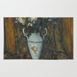 Paul Cézanne - Vase of flowers Rug