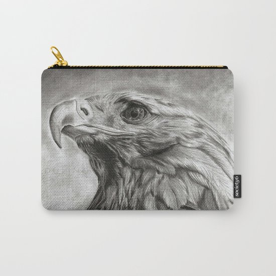 Eagle pencil drawing Carry-All Pouch