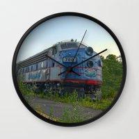 minnesota Wall Clocks featuring Minnesota Zephyr by John Andrews Design