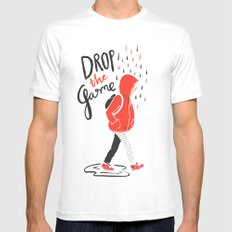Drop The Game Mens Fitted Tee MEDIUM White