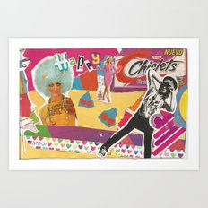 Collage Pop Art Art Print