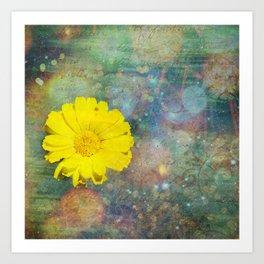 Flower Texture Princess 1 Art Print
