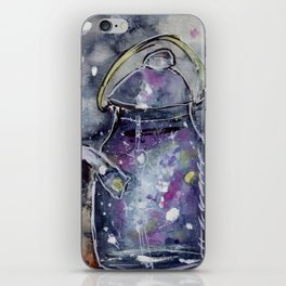 Hand Painted Galaxy Tea Kettle iPhone Skin