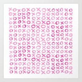 Xoxo valentine's day - pink Art Print