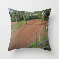 moto Throw Pillows featuring Moto by Dymond Speers