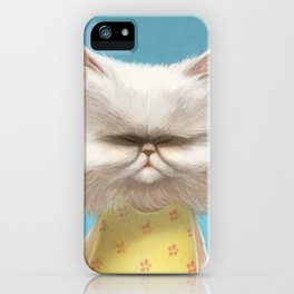 A cat holding a flower iPhone Case