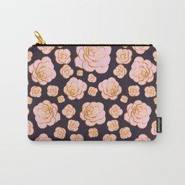 Pink Succulents Echeveria Laui Carry-All Pouch