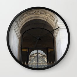 Louvre Reflection Wall Clock