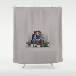 LOVE, EVAK. (light version) Shower Curtain