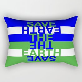 Save the Earth Rectangular Pillow