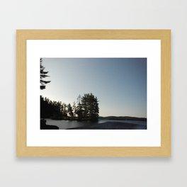Midnight Moonlight, Algonquin Park, Canada Framed Art Print
