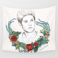 coconutwishes Wall Tapestries featuring Niall  by Coconut Wishes
