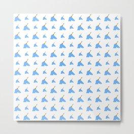 unicorn 2- blue Metal Print