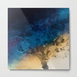 Stormy Skies Abstract Design Metal Print