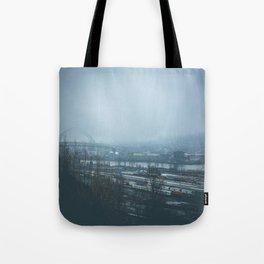 Overlook Park Fog Tote Bag