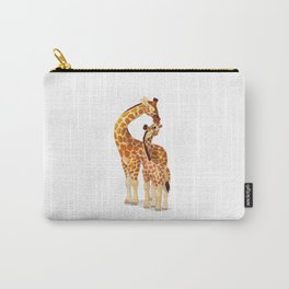 Mother and child giraffes Carry-All Pouch