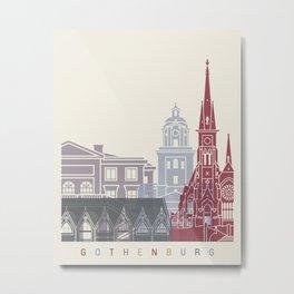Gothenburg skyline poster Metal Print