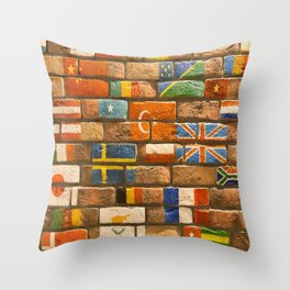 flags Wall Throw Pillow