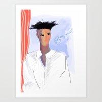basquiat Art Prints featuring Basquiat  by lindseybaker