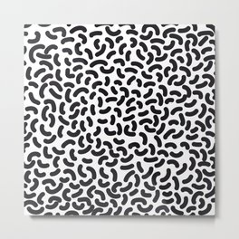 black worms Metal Print