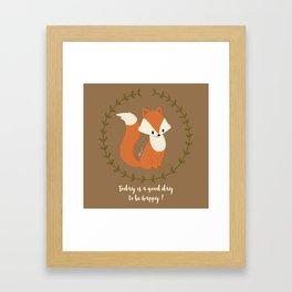 Renard roux // Red fox Framed Art Print