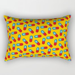 Deadly but Colorful. Pills Pattern Rectangular Pillow