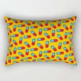 Deadly but Colorful. Pills Pattern Rectangular Pillow