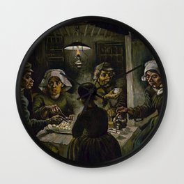 1885-Vincent van Gogh-The potato eaters Wall Clock