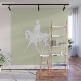 Dressage in Green Wall Mural