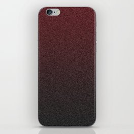 Speckled Red Fade iPhone Skin