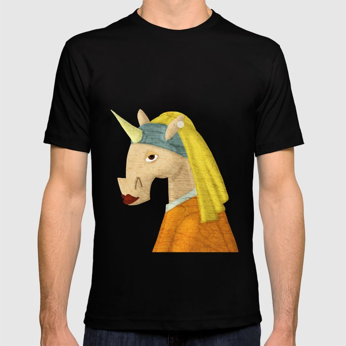 The Unicorn with the Pearl Earring T-shirt