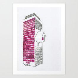 High rise birdhouse. Art Print
