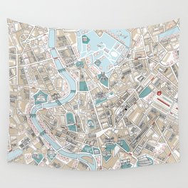 Map of Rome Wall Tapestry