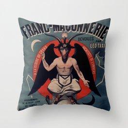 Old sign / Les Mystères de la franc-maçonnerie Throw Pillow