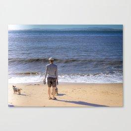 La promenade des chiens Canvas Print