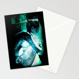Afterlife Drawing - Blue Stationery Cards