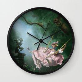 Marie Antoinette on a swing Wall Clock