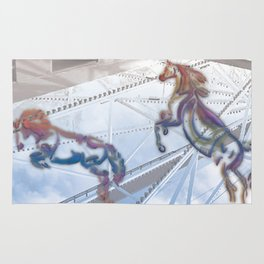 Carousel horses Rug