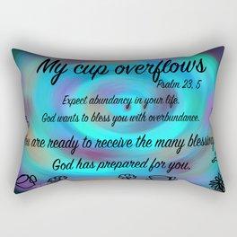 Cup swirl - Psalm 23, 5 Rectangular Pillow