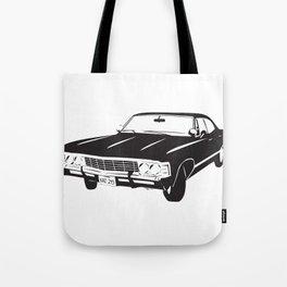 Supernatural Chevrolet Impala 67' Tote Bag