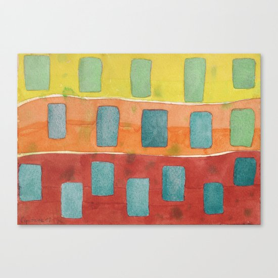 Placed in a Red Orange Yellow Field Canvas Print