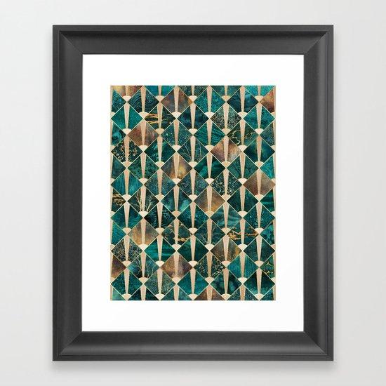 Art Deco Tiles - Ocean Framed Art Print