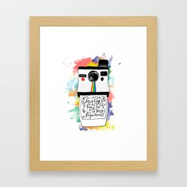 Develop From the Negatives Framed Art Print