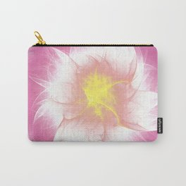 Pink Flower Fractal Carry-All Pouch