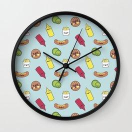 Cute Burgers  Wall Clock