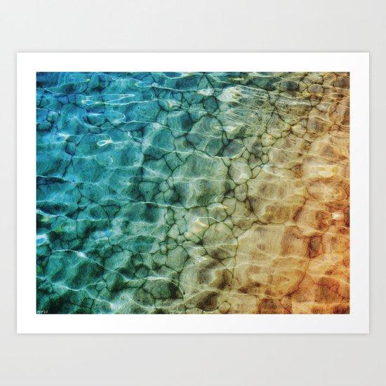 Stones In The Sea Art Print