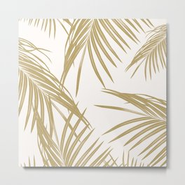 Gold Palm Leaves Dream #1 #tropical #decor #art #society6 Metal Print